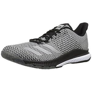adidas Women's Crazyflight Bounce 2 Volleyball Shoe, Black/Silver Metallic/White, 14 M US