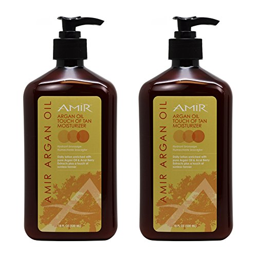 Amir Argan Oil 'Touch of Tan' Moisturizer 18oz'Pack of 2'