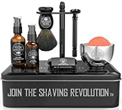 PERFECT GIFT- Make any man extremely happy with our complete wet shave kit. Great gift for fathers, husbands, sons or any man for that matter. MOST COMPLETE KIT- This kit contains everything one will need to keep their face silky smooth or just to tr...