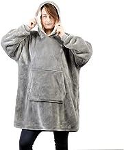 Sherpa Oversized Cozy Wearable Hoodie Blanket Sweatshirt, Mens Womens Hoodie, Hooded Robe, Spa, Bathrobe, Fleece, Pullover...