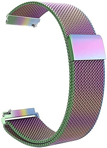 Niboow 20mm Correa Compatible con Samsung Galaxy Watch 4 40mm, Ajustable Correa, Magnética Pulsera Acero Inoxidabl, Para Samsung Galaxy Watch 42mm/Active 2 (40 mm/44 mm)/Samsung Gear Sport-Arcoíris.