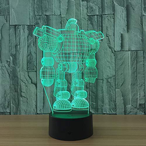 Luz de Robot Color luz de Noche Mesa táctil bebé sueño Noche luz ilusión Sensor