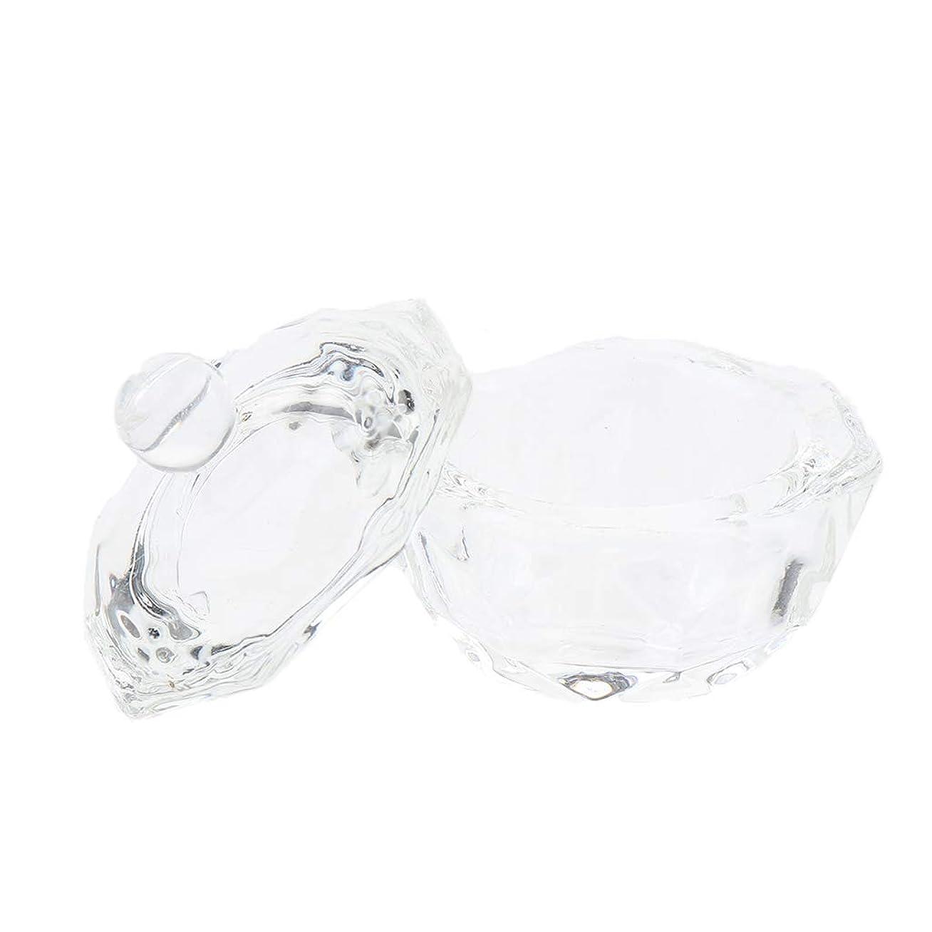 脚本クライマックス送信するCUTICATE ガラスボウルカップ ネイルアート 透明ガラス ネイルアートツール ミキシングカップ ネイルサロン用