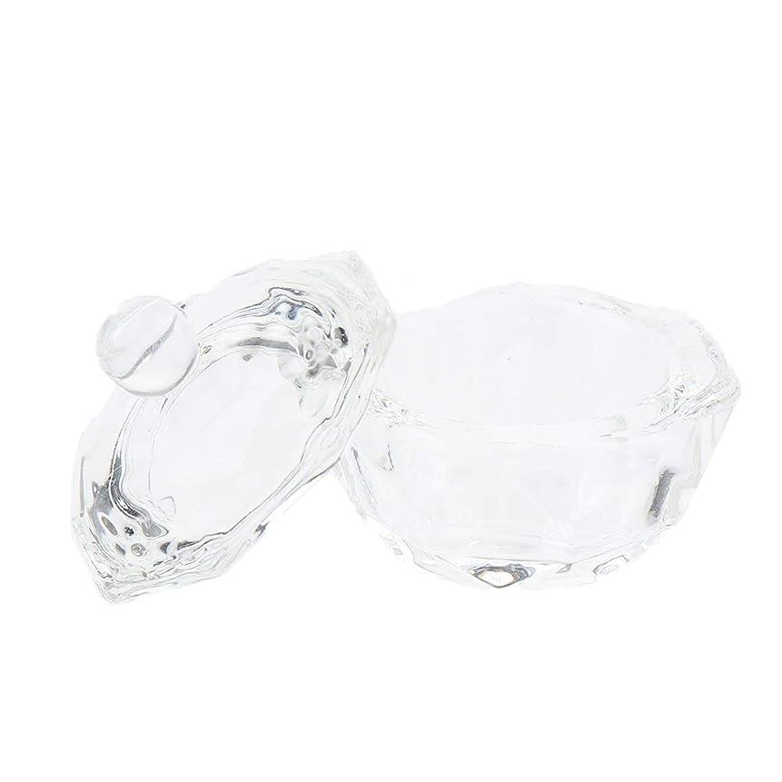 不安定なナビゲーションレルムCUTICATE ガラスボウルカップ ネイルアート 透明ガラス ネイルアートツール ミキシングカップ ネイルサロン用
