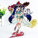 FUYUNLAI Soporte de acrílico Fairy Tail/Soporte de Escritorio en Miniatura para decoración del hogar/Figura de pie/Figura de acrílico con Soporte/Decoración de Figuras en Miniatura/Adornos de Anime E