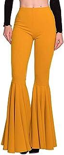 896c3f66dbde3b Amazon.fr : Pantalon Flare Femme - Jaune : Vêtements