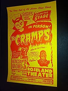 Cramps Lux Interior Rare Original No Sissies Portland Punk Flyer Concert Poster