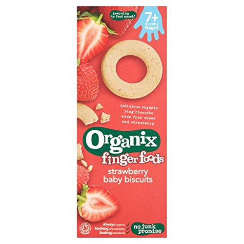 Organix | Strawberry Ring Biscuits | 5 x 54g