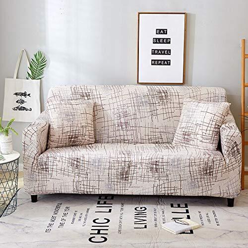 WXQY Funda de sofá geométrica Floral para Sala de Estar Funda de sofá elástica en Forma de L Funda de sillón de Esquina Funda de sofá Funda de Muebles A9 4 plazas
