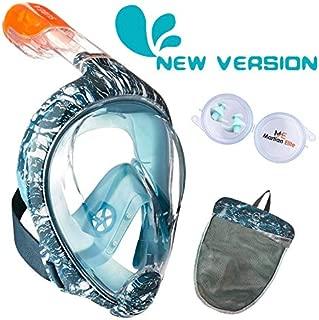 New Version Enhanced Anti-Fog and Anti-Leak////#! Full Face Snorkel Mask with Camera Mount ME MARTIAN ELITE Tribord//Subea Easybreath