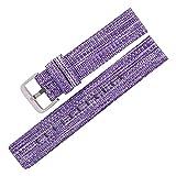 Cinturino per orologio da 22 mm 20 mm, adatto per Samsung Galaxy Active 2, cinturino in nylon adatto per Huawei Watch GT 2 per Samsung Galaxy 42 mm (colore cinturino: viola, larghezza di banda: 18 mm)