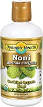Dynamic Health Certified Organic Noni (Morinda citrifolia) 100% Juice | For Increased Energy & Body Health | No Additives, Vegetarian | 32oz Plastic (2 pk)