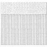 Bestlivings Cortina de hilos 140 x 240 cm, protección contra insectos, separador de espacios, selección: blanco perla