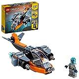 LEGO31111Creator3en1CiberdrónSetdeConstrucciónconCibermecayCibermoto,JuguetesEspacialesparaNiñosaPartirde6Años