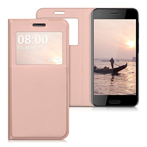 kwmobile HTC One A9s Hülle - Handyhülle für HTC One A9s - Rosegold - Handy Case Schutzhülle Klapphülle
