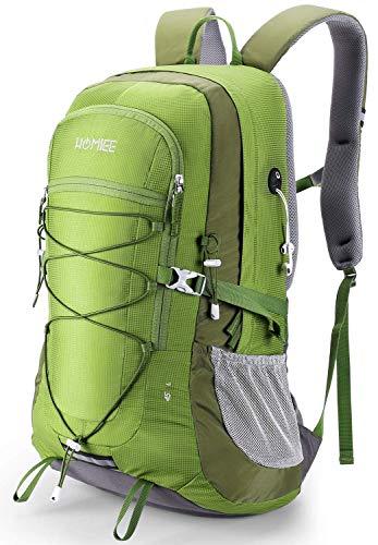 HOMIEE Lightweight Hiking Backpack, 45L Camping Daypack Travel Bag Waterproof - GREEN