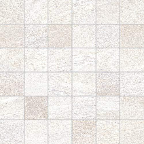 Gayafores 2011281 Azulejo de porcelana, blanco, 6