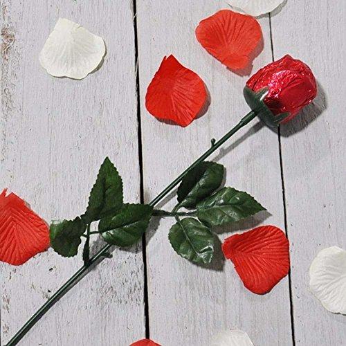 Valentijn Melk Chocolade Rose - met Liefde - Geleverd aan haar, met uw speciale boodschap