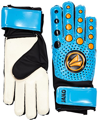 JAKO TW Handschuh Protect 3.0 Torwarthandschuh, Hellblau/Schwarz/Orange, 8