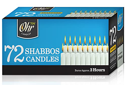 Shabbat Candles - Traditional Shabbos Candles - 3 Hr. - 72 Ct.