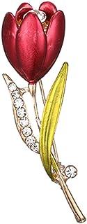 FENICAL Flor de Rose Broches Rhinestones Broche Pin Breastpin Joyería Accesorios de Regalo para Mujeres Niñas