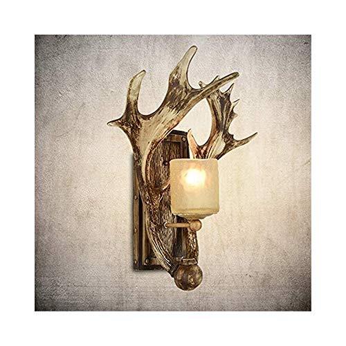 JCM Antieke industriële wind gewei lamp wandlamp persoonlijkheid creatieve retro Scandinavische woonkamer Europese gang hert hoofd decoratie ZJ