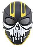 Ecloud Shop® Esquelético del cráneo de Airsoft Paintball Proteja Máscara Máscara de Juego