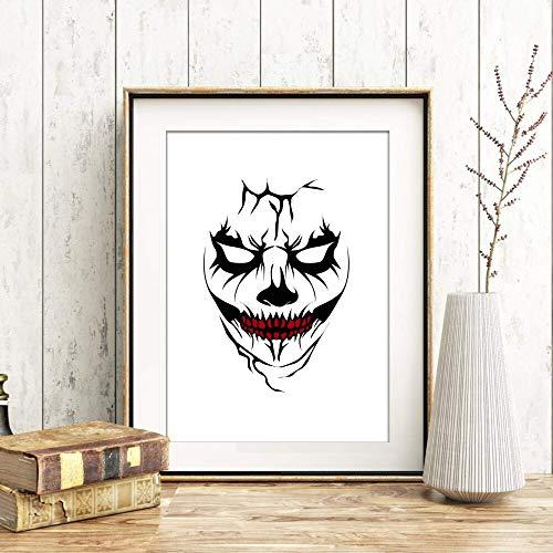 Kunstdruck Din A4 ungerahmt Maske Horror Halloween Grusel Gothic Poster Bild