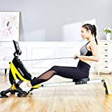 Ruderzugmaschine mit Rudergerät Mute Bauchbrust Arm Fitnesstraining Körper Glider Rudern Home Gym Fitnessausrüstung (Farbe : Schwarz, Größe : Einheitsgröße) - 2