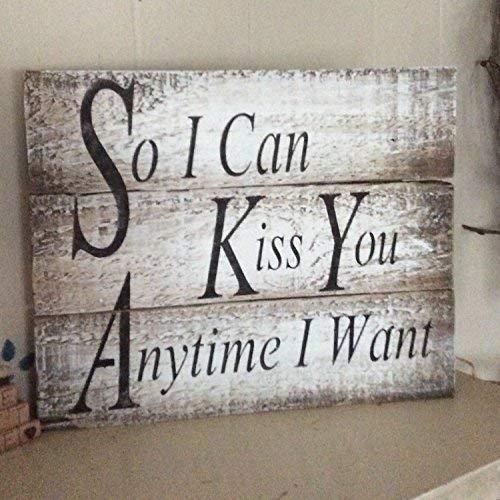 SIGNS 25x30cm, hout grappig zodat ik je kan kussen wanneer ik wil Pallet cb651930