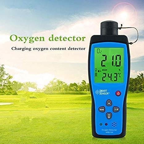 Monitor de Calidad del Aire Interior, Analizador de Gas Oxígeno Medidor del Probador del Detector de Contenido de Oxígeno, Rango de Medición de Concentración de Oxígeno 0-30%