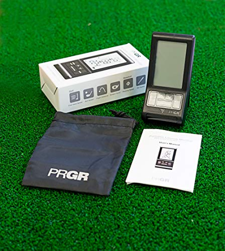 PRGR Black Pocket Launch Monitor (Newest Model with Included Batteries and Carry Case)