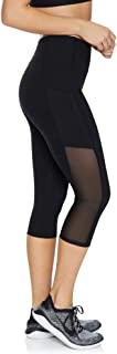 Rockwear Activewear Women's 3/4 Double Pocket Tight Black 6 from Size 4-18 for 3/4 Length High Bottoms Leggings + Yoga Pan...