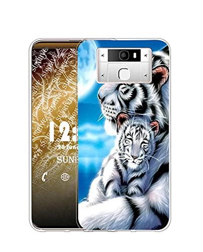 Sunrive Kompatibel mit Oukitel K10000 Pro Hülle Silikon, Transparent Handyhülle Schutzhülle Etui Hülle (Q Tiger 3)+Gratis Universal Eingabestift MEHRWEG