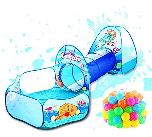 Speelgoed Tunneltent Oceaan Serie Cartoon Spel Grote ruimte Ballenkuilen Draagbaar Zwembad Opvouwbaar Kinderen Buitensporten Educatief speelgoed