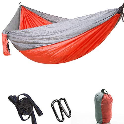 Dubbele Kampeer Hangmat Met Boombanden En Karabijnhaken, Lichtgewicht Hangmat Geschikt Voor Backpacken Op Kampeerreizen,7