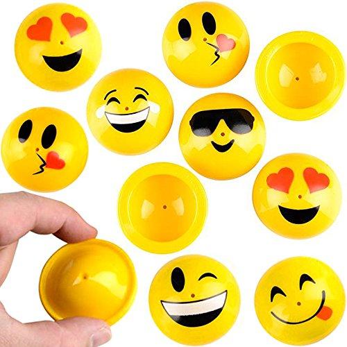 German Trendseller® - 12 x Emoji PoP - UP - Huepfer Mix ┃ Mitgebsel ┃ Kindergeburtstag ┃Emoticons ┃ 12 Stück