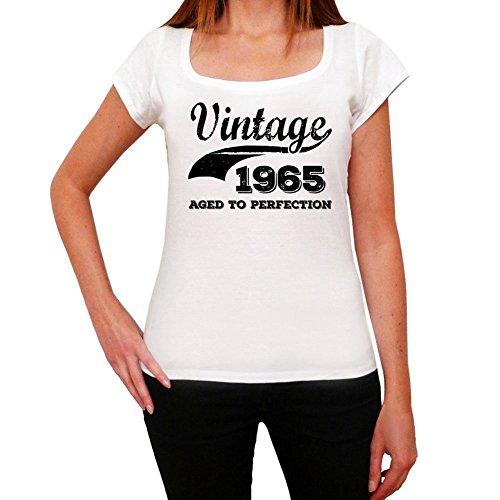 One in the City Vintage Aged To Perfection 1965, Regalo cumpleaños Mujer, Camisetas Mujer cumpleaños, Vendimia añejado a la perfección Camiseta Mujer, Camiseta Regalo, Regalo Mujer