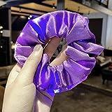 JSBVM 9 Stück LED Haargummis, Leuchtender Haarschmuck im Dunkeln mit Schalter, 3 Licht Modi,...
