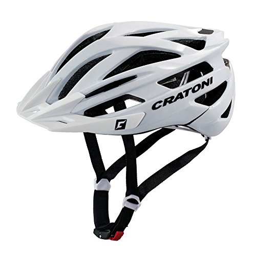 Cratoni Fahrradhelm Agravic MTB Gr. S/M 54-58cm glanz weiß