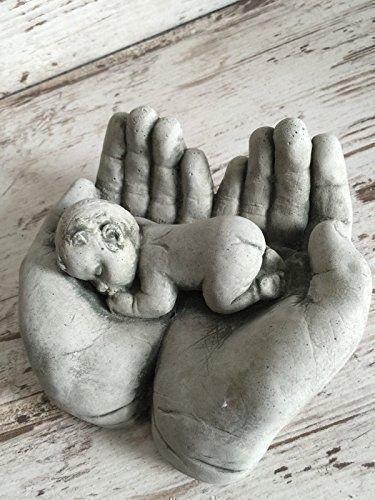dekowonderland Steinfigur Hand Kind