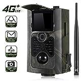 Suntek 4G 3G Cámara de Caza Vigilancia 16MP, 1080P Trail Cámara IP65 Impermeable, IR Leds Visión Nocturna, 2.0' LCD Pantalla, 120° Sensor de Movimiento de hasta 30m