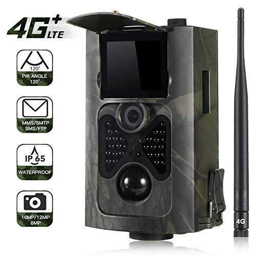 Wildkamera 16MP 1080P Profi Outdoor Überwachungskamera 28 Infrared LEDs Nachtsicht Weitwinkel IP65 wasserdicht kabellos 0,3 Sekunden Auslösezeit Schwarz-Weiß-Nachtbilder Fotofalle Trail Camera