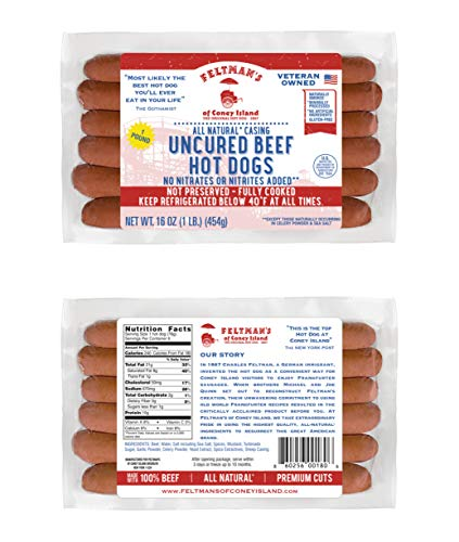Feltman's Original Hot Dogs, 3 Pack (18 hot dogs)