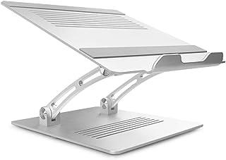 ノートパソコンスタンド パソコンスタンド PCスタンド PCホルダー ラップトップスタンド ノートPCスタンド 折りたたみ式 アルミ製 高さ/角度自由調整可能 姿勢矯正 放熱 滑り止め 耐荷重10KG 軽量 10~17インチまでのノートPC/MacBook/ラップトップ/iPadなどに対応(シルバー)