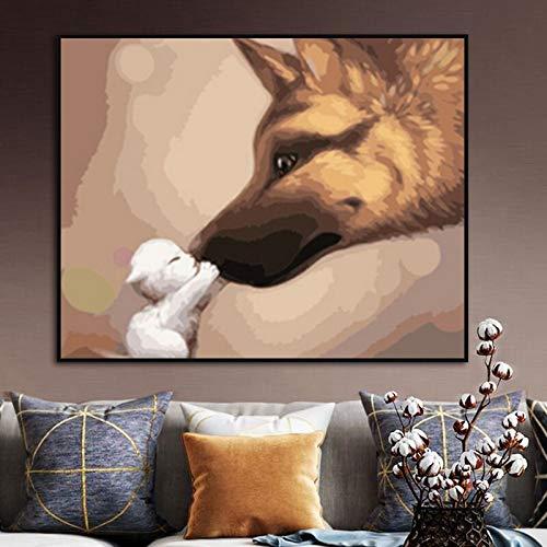Puzzle 1000 Piezas Arte Animal Perro Moderno Puzzle 1000 Piezas Adultos Juego de Habilidad para Toda la Familia, Colorido Juego de ubicación.50x75cm(20x30inch)