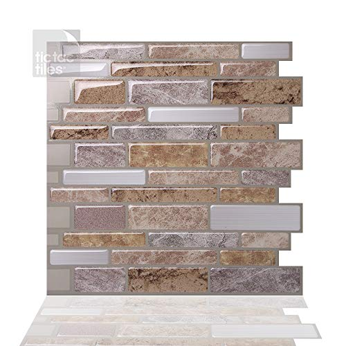 Tic Tac Tiles Pelar antimoho y enchufe azulejo de la pared En Polito Fresco 5 10
