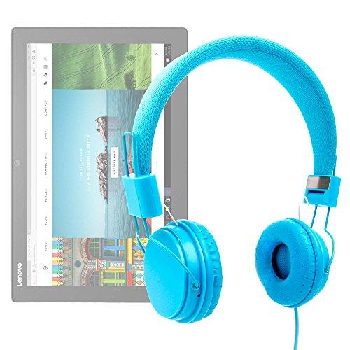 DURAGADGET Auriculares De Diadema Color Azul para Tablet ASUS Transformer Pro T304, ZenPad 3S 10 LTE/DELL Latitude 5285, 7285 / Lenovo Miix 720, X1 Tablet (2017), Yoga Book 12.2'