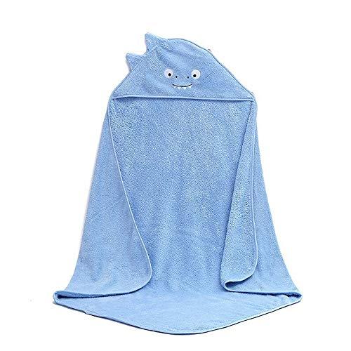 papasgix Toallas de Baño con Capucha para Bebé,Toalla con Capucha para Bebés Hecha de Fibra de Bambú Orgánica,Toalla Albornoz Bebé Suave y Confortable Diseño de Lindo Animal(Monstruo/Azul)