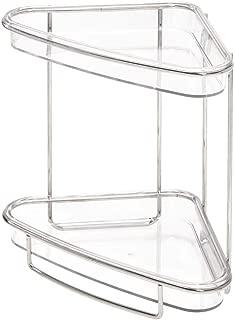 iDesign Clarity Plastic Free-Standing 2-Tier Vanity Shelves, Storage for Countertops, Desks, Dressers, Bathroom, 9.68